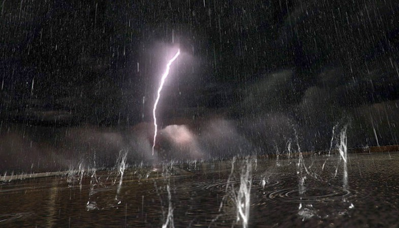 Realistic Rain Storm