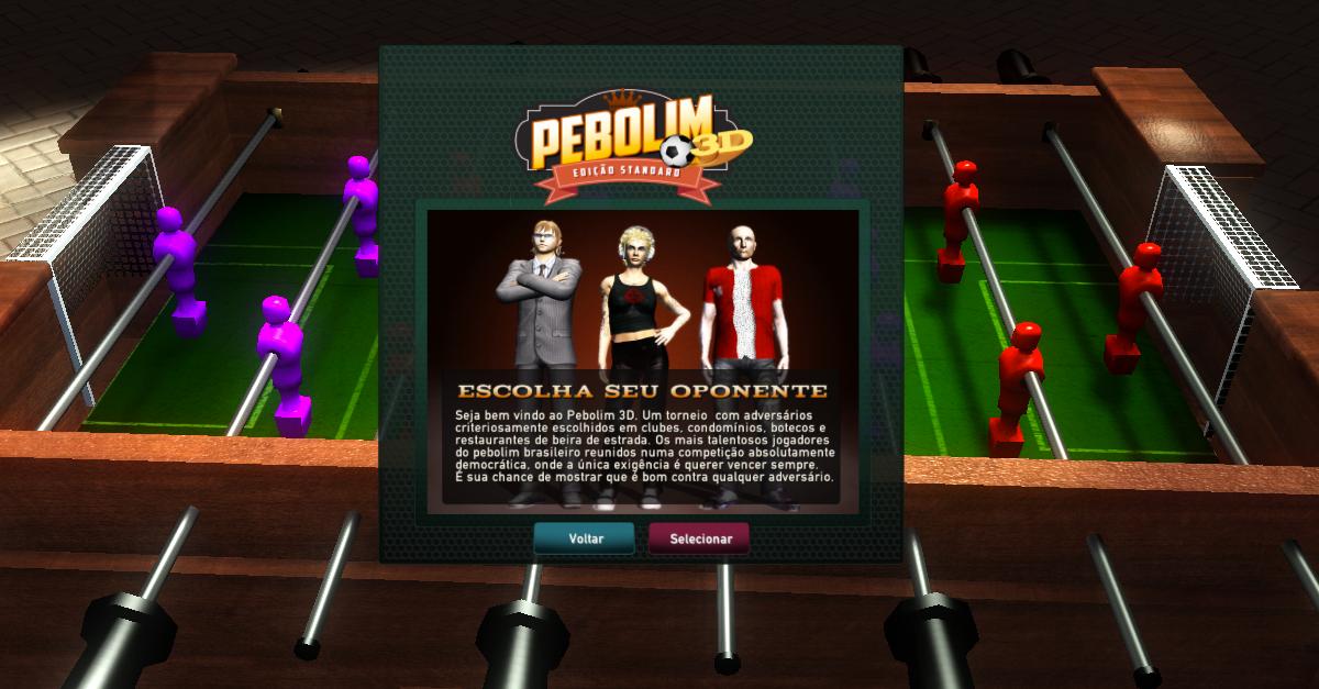 Foosball 3D or Pebolim 3D