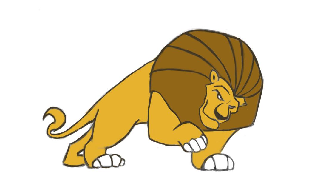 Lion - 2D Concept Art