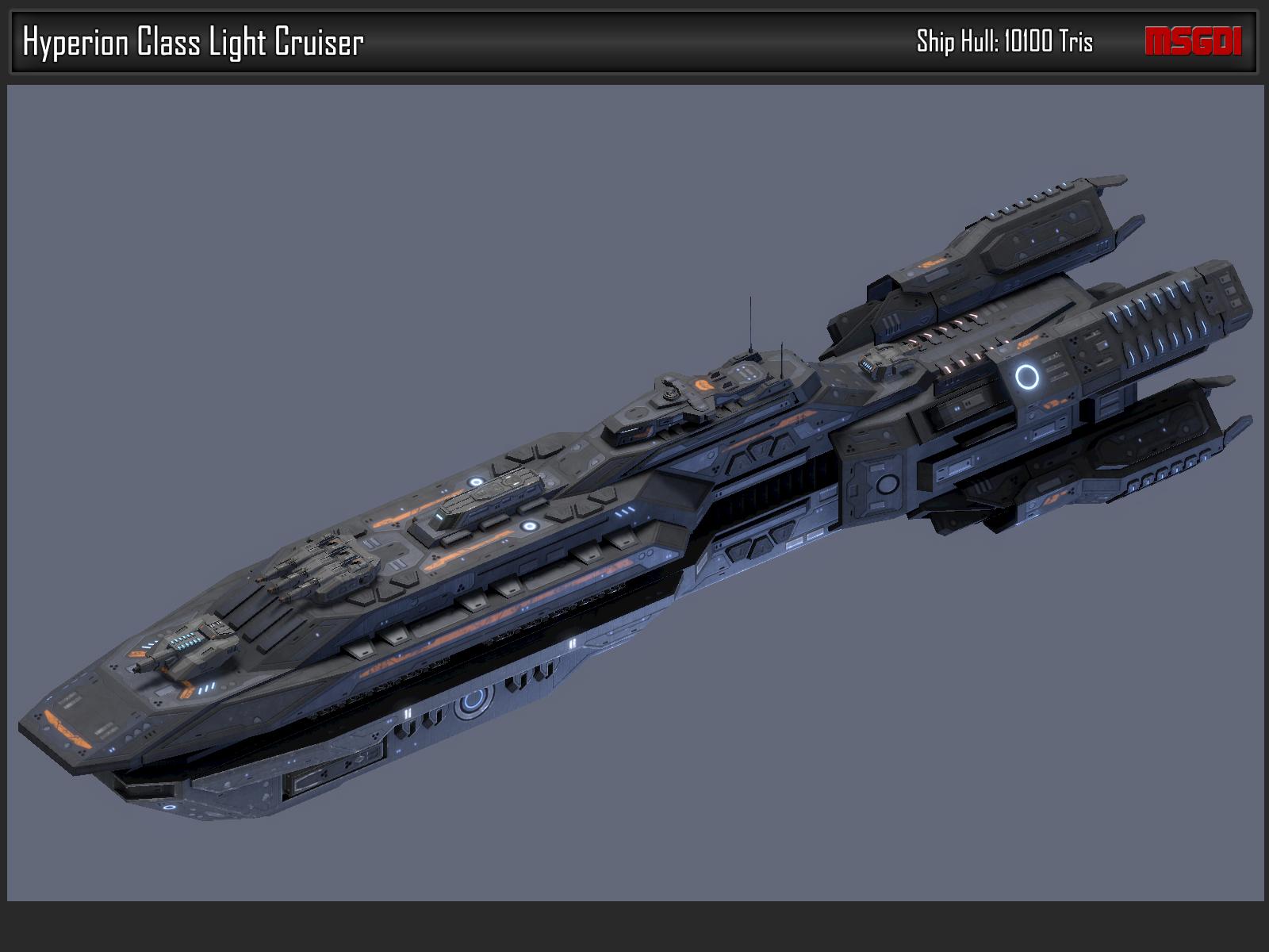 Scifi Light Cruiser Hyperion