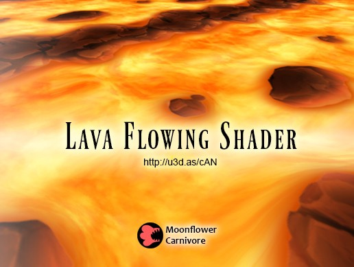 Lava Flowing Shader