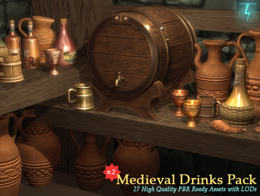 Medieval Drinks Pack (Updated)