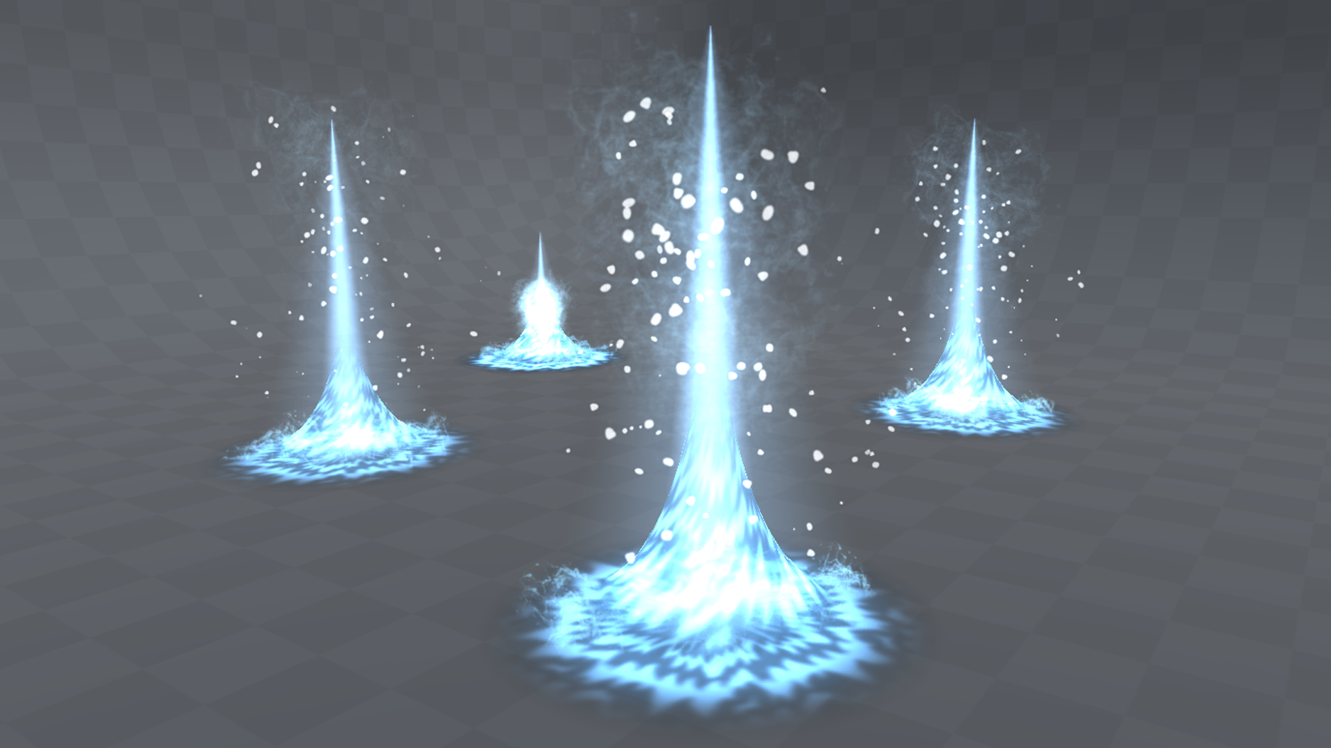 Water spikes VFX