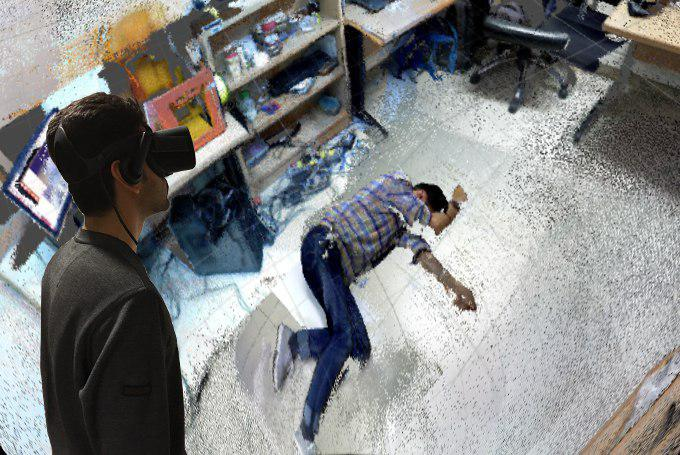 3D Scanning and modeling crime scene using AR and VR and Asus Xtion scanner.