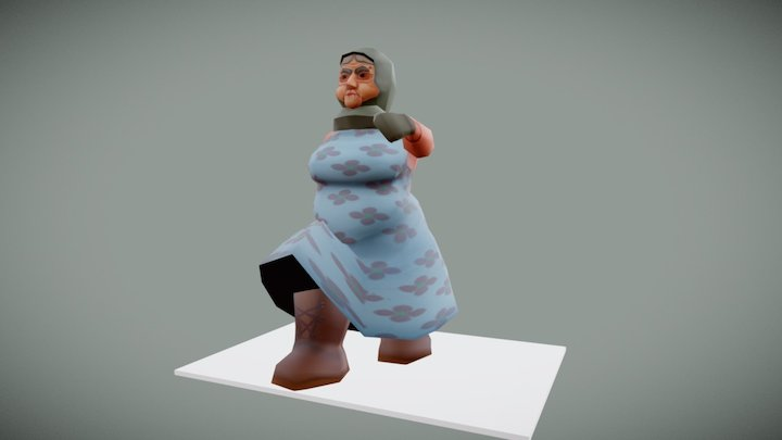Low Poly Character: Babushka