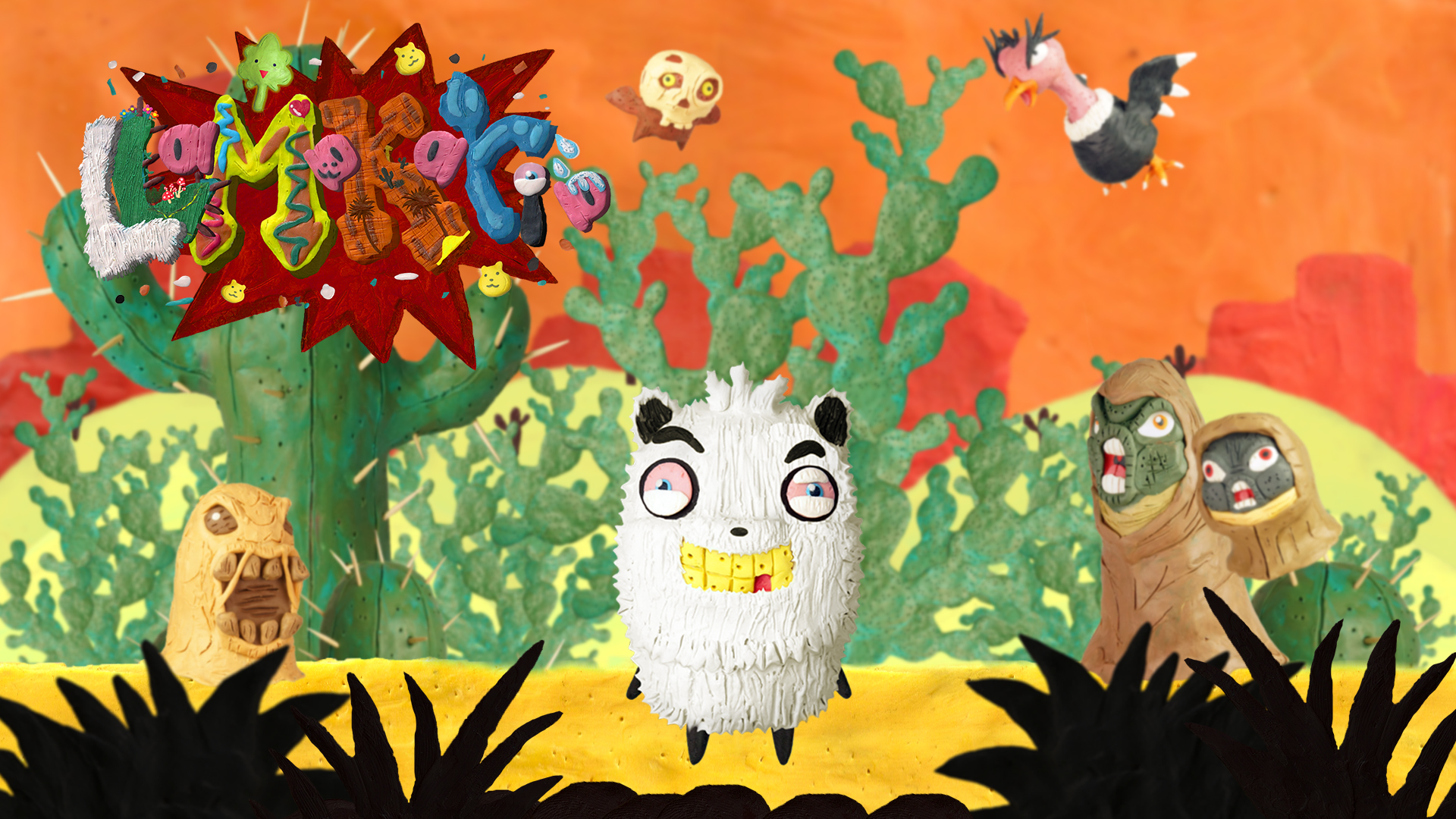 Llamakaria a clay Side-scroller game