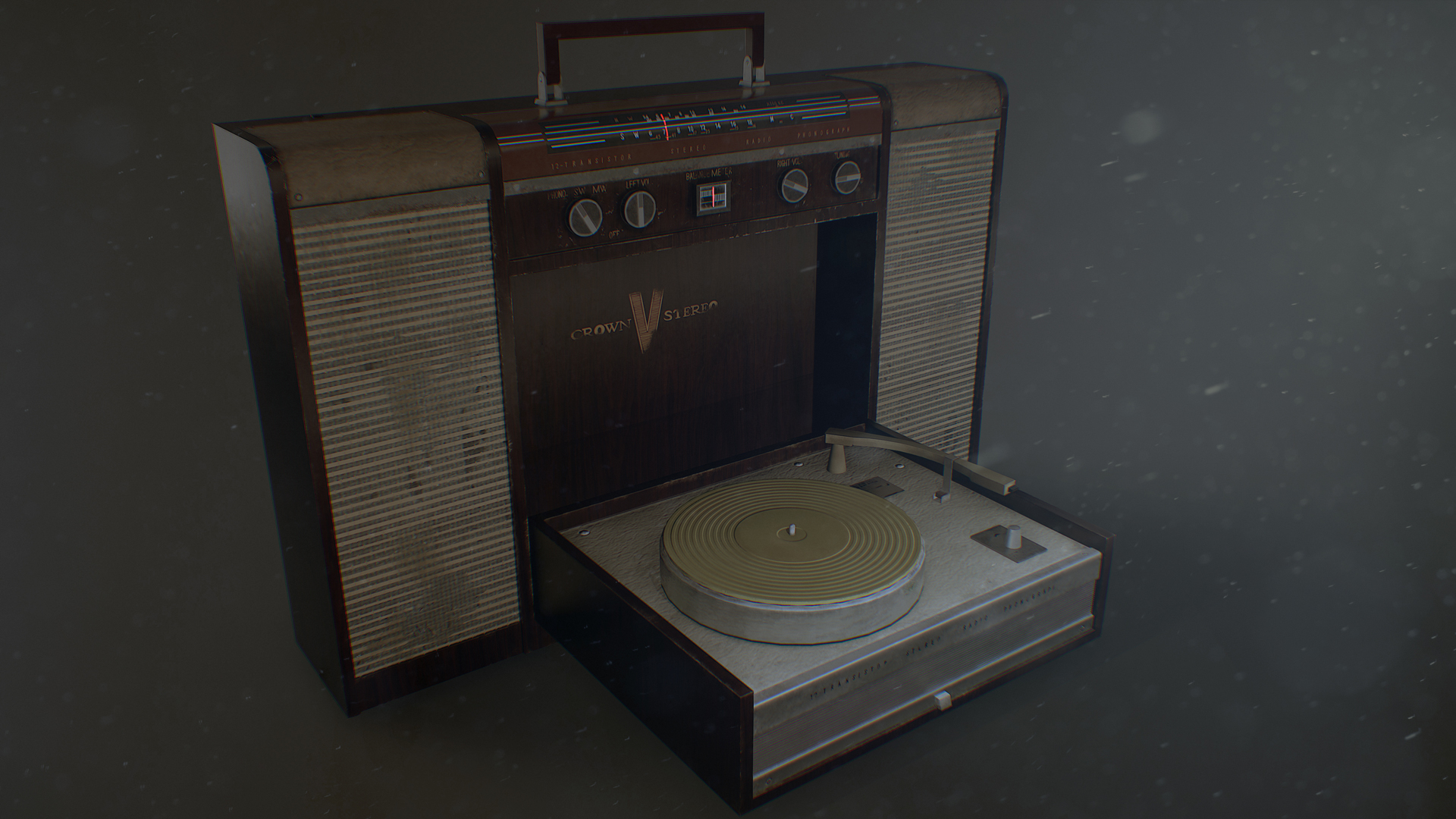 Crown Radio Phonograph 1963