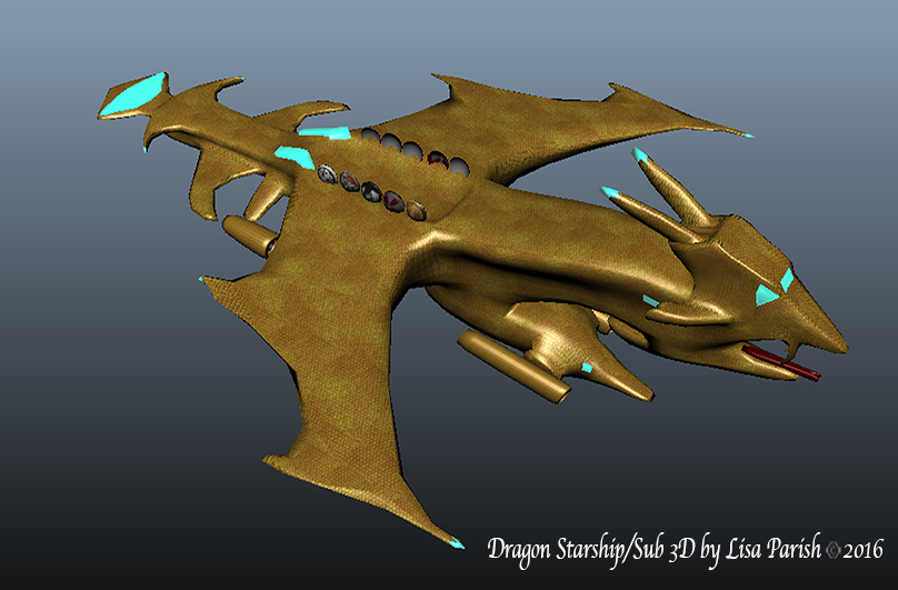 Dragon Starship/Sub 3D