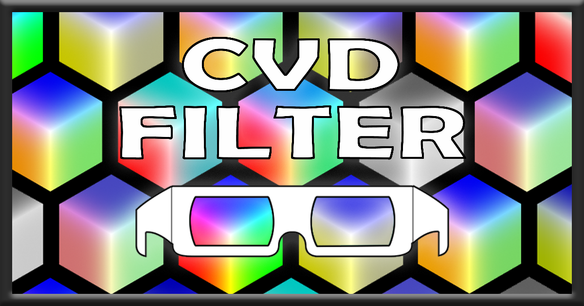 'CVD Filter' now available on the Asset Store!