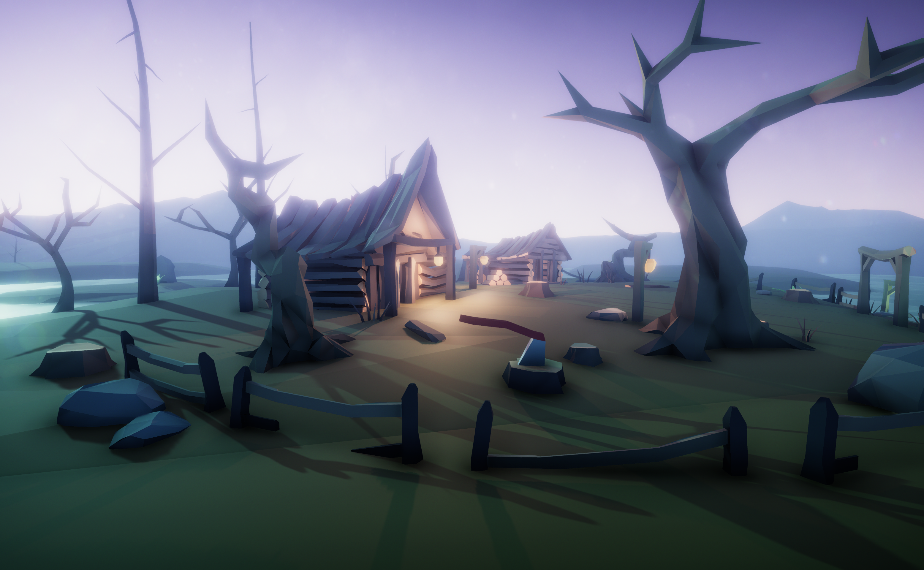 Swamp Village - LowPoly Kit