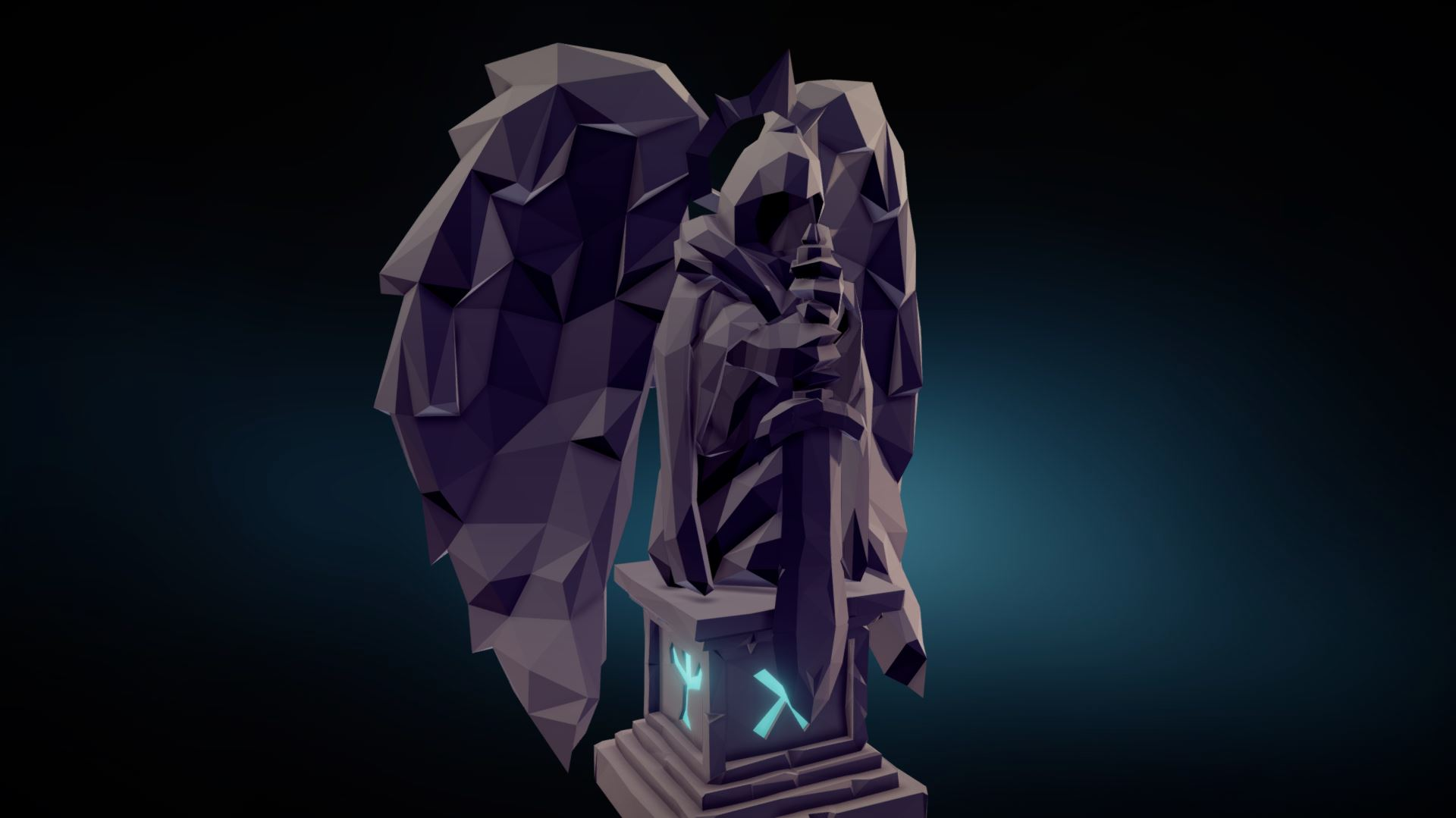 Faceted Statue