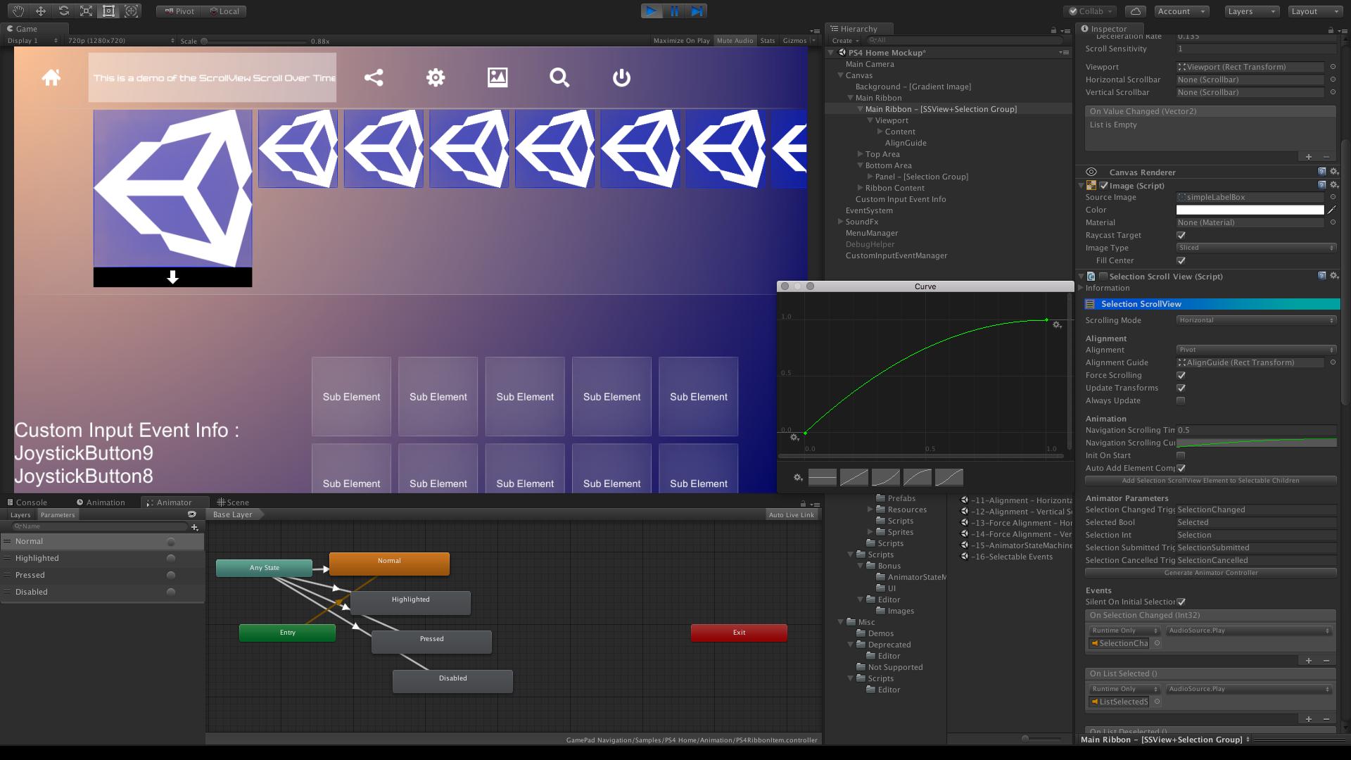GamePad Navigation UI Tools