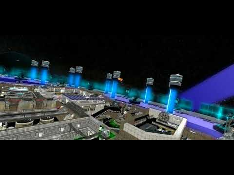 Space Flight - Real time future scene