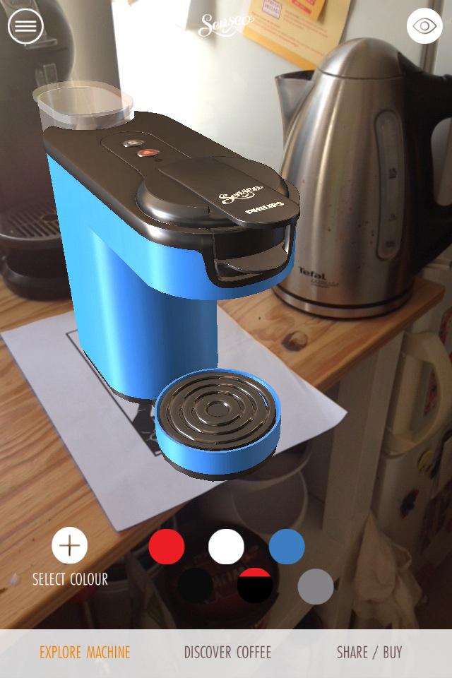 Senseo up AR app