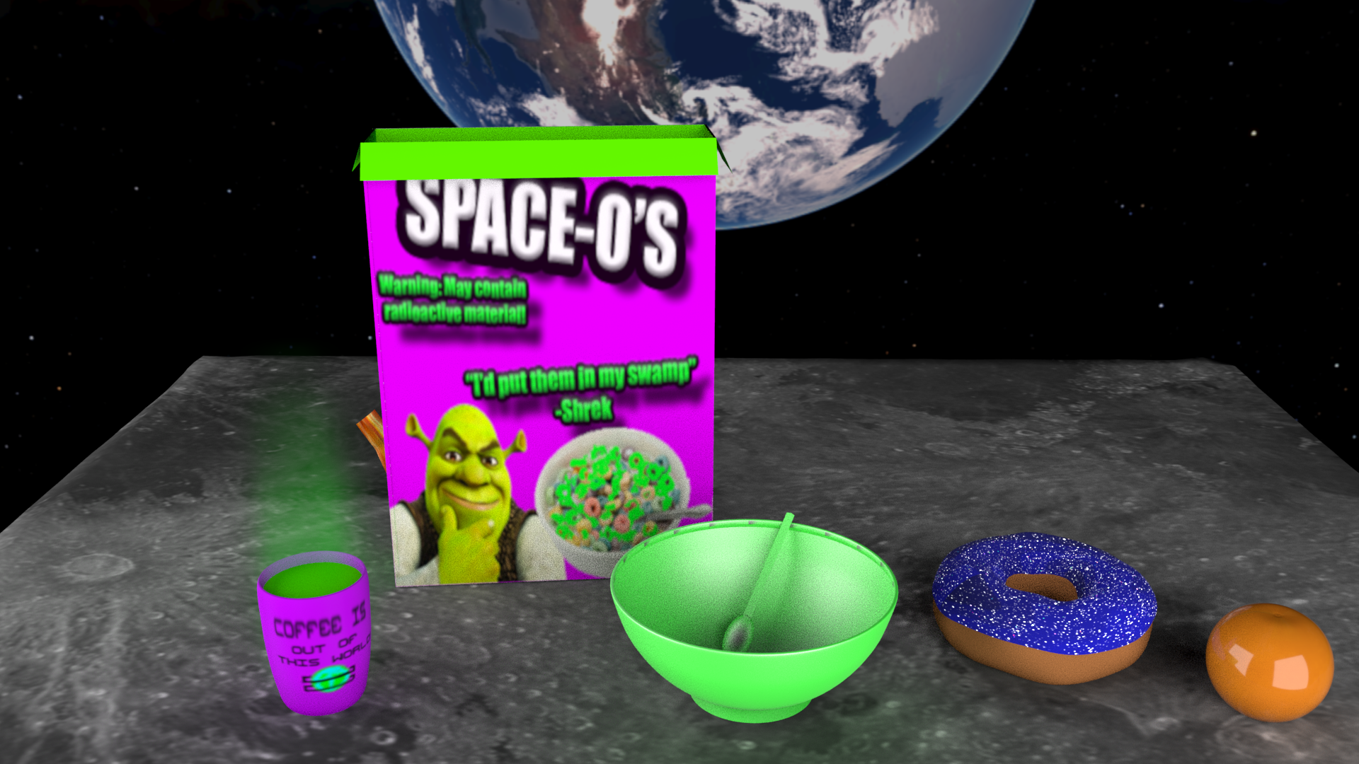 Funny Space-O's Mock Up
