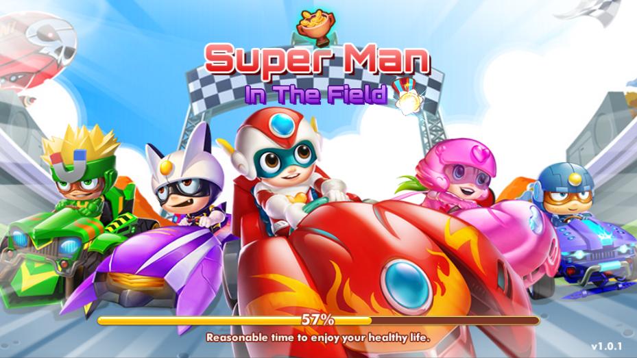 Happy Superman - Car Transform Racing