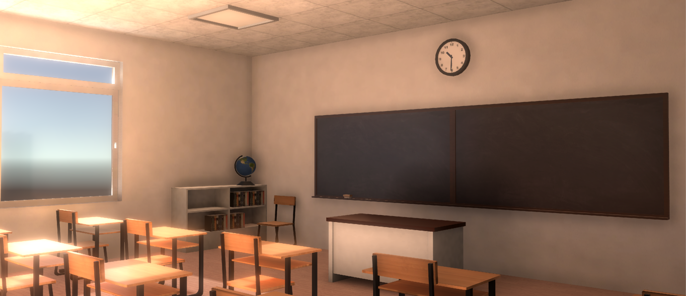 A simple classroom