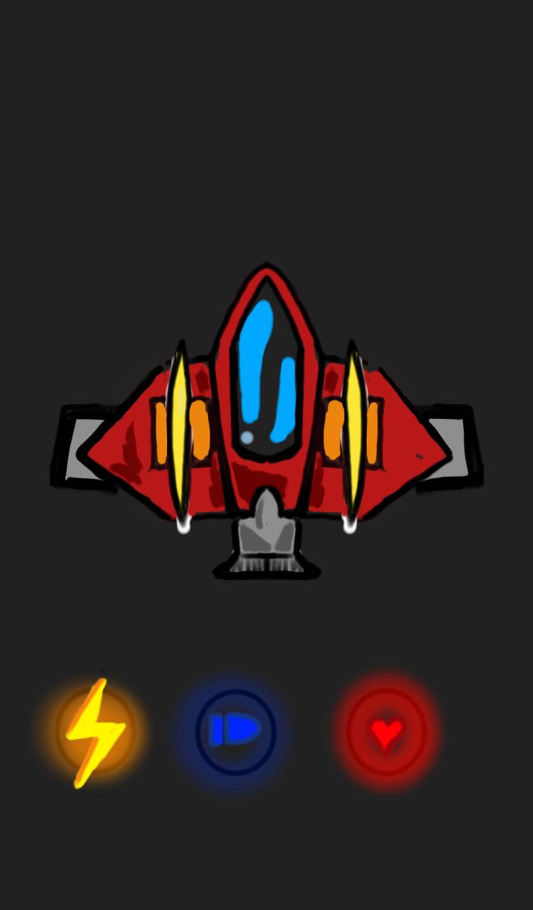 2D spaceship concept art