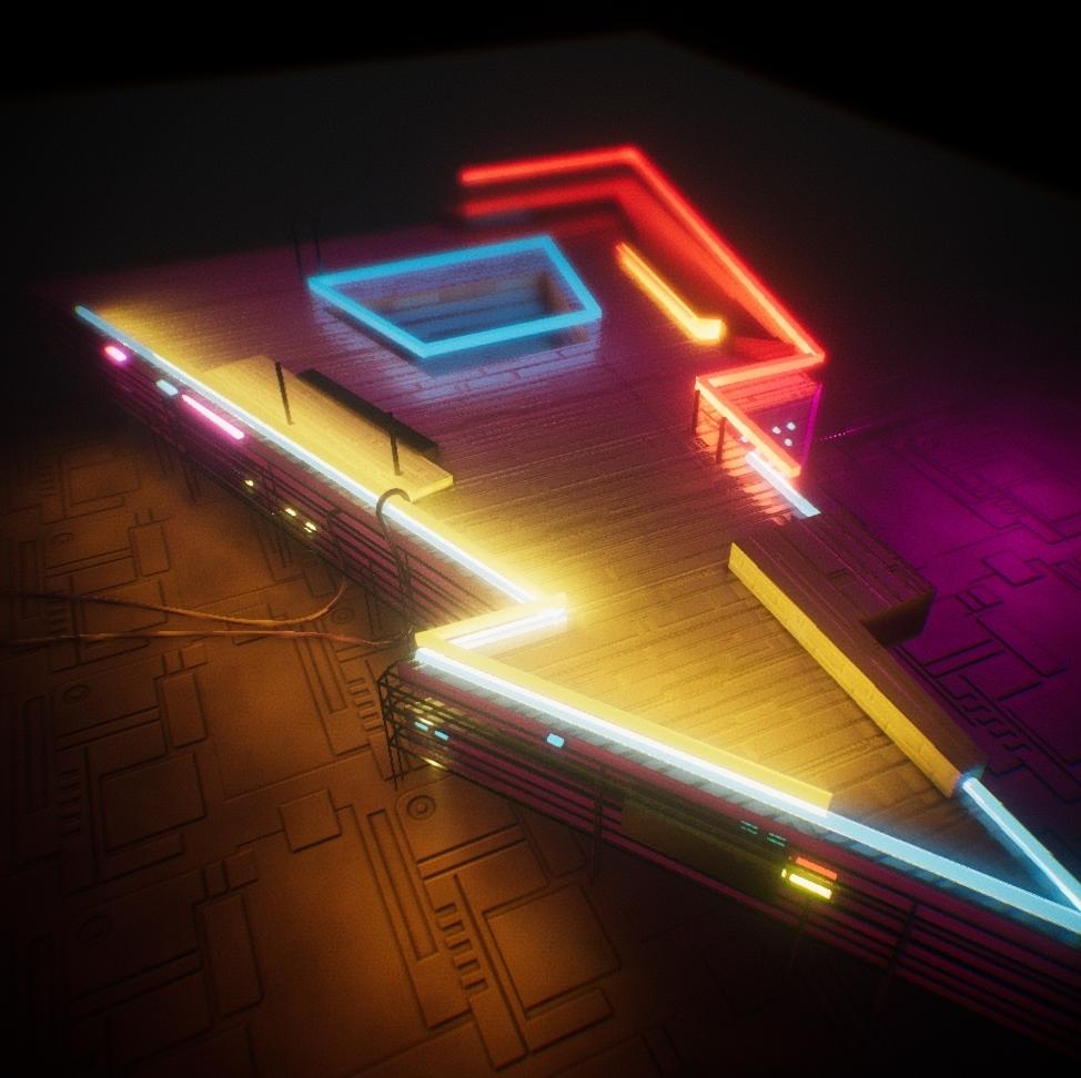 Neon Retro Client Work