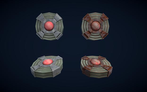 Low poly PBR Landmines