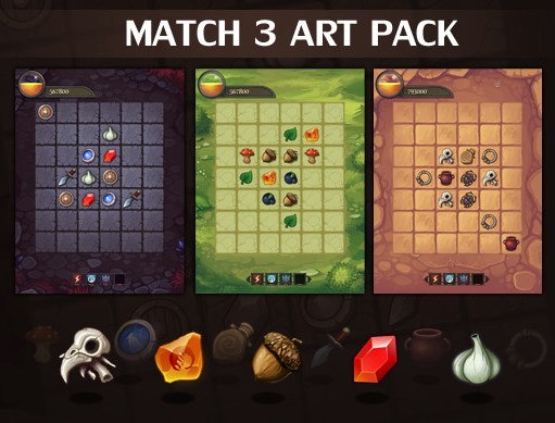 Match 3 Art Pack