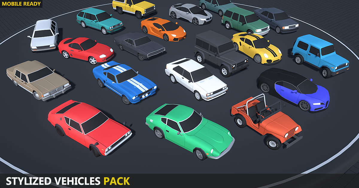 Stylized Vehicles Pack - Low Poly