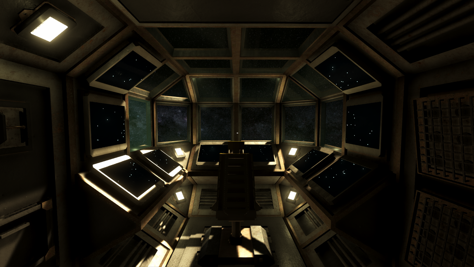 A Spaceship in Space
