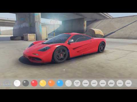 McLaren F1 real time customization