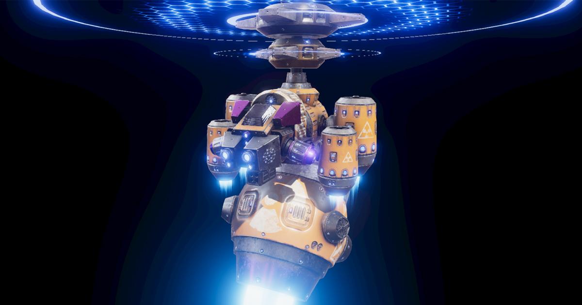 PBR Sci-Fi Space Ship Vol.02