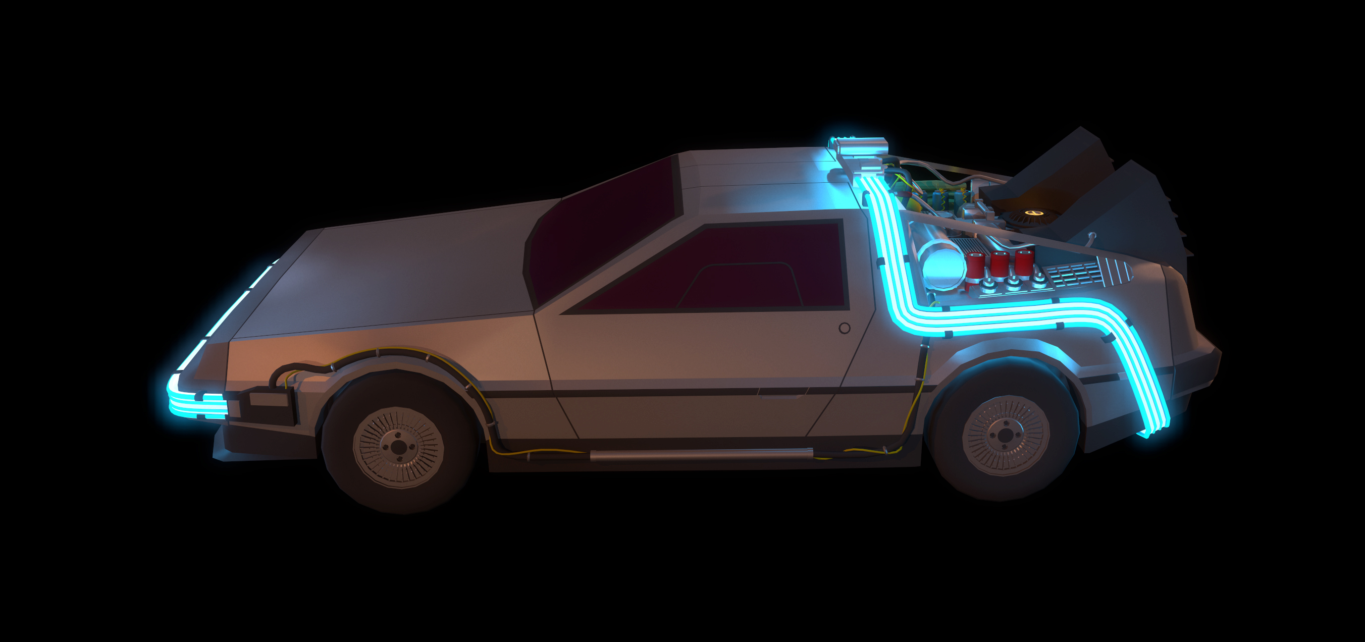 DeLorean DMC - 12 _ Low Poly Tutorial