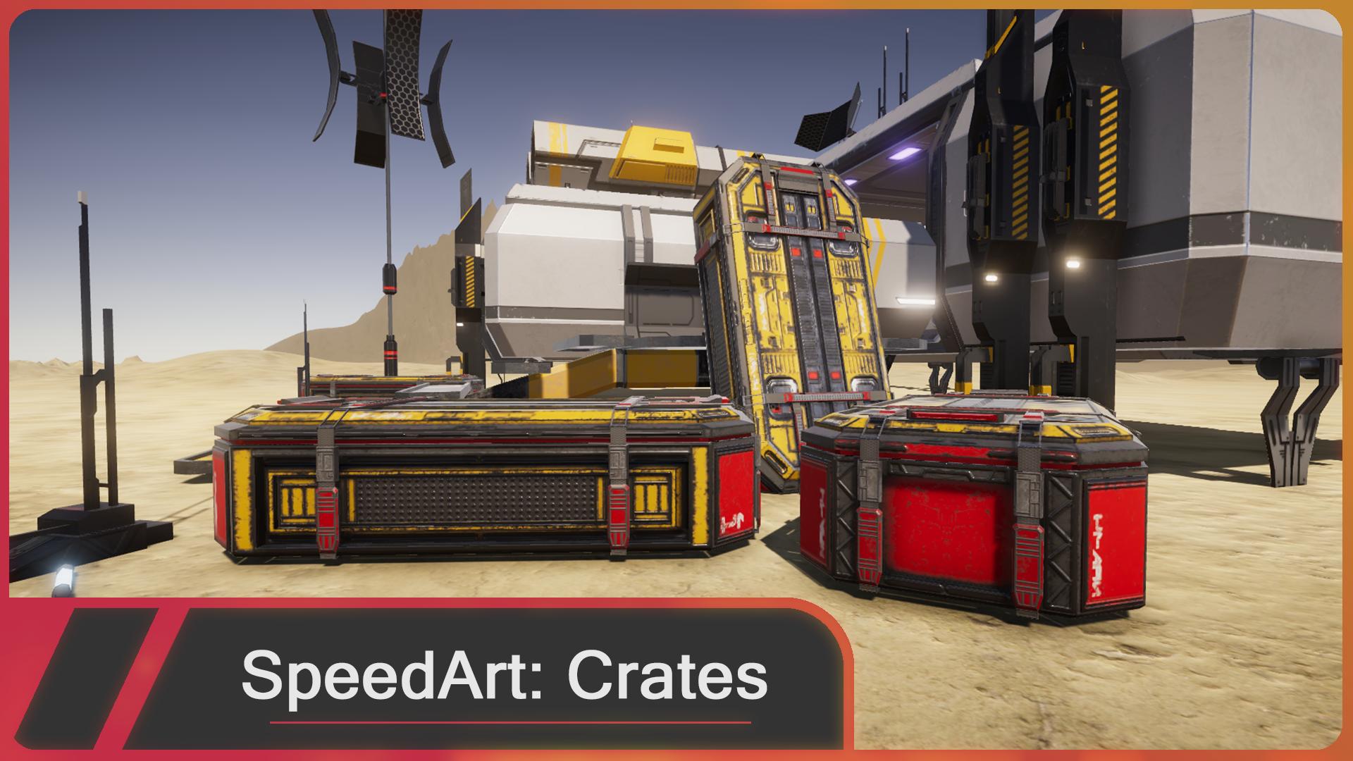 Blender SpeedArt Crate (Blender,Substance painter, Unity)