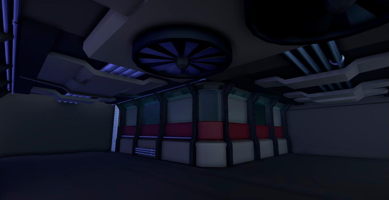Low poly sci-fi corridor