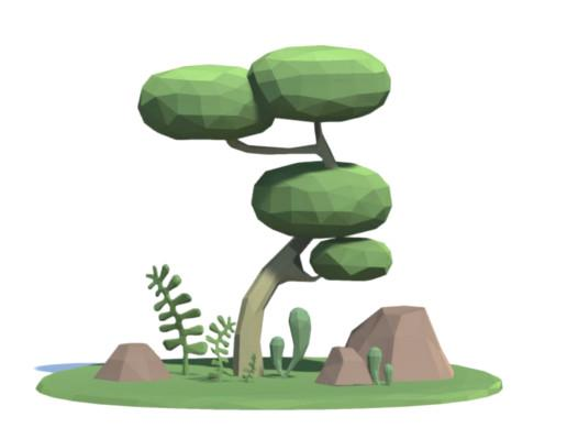 Free Low Poly Toon Nature