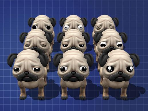 Cute Low Poly Pug