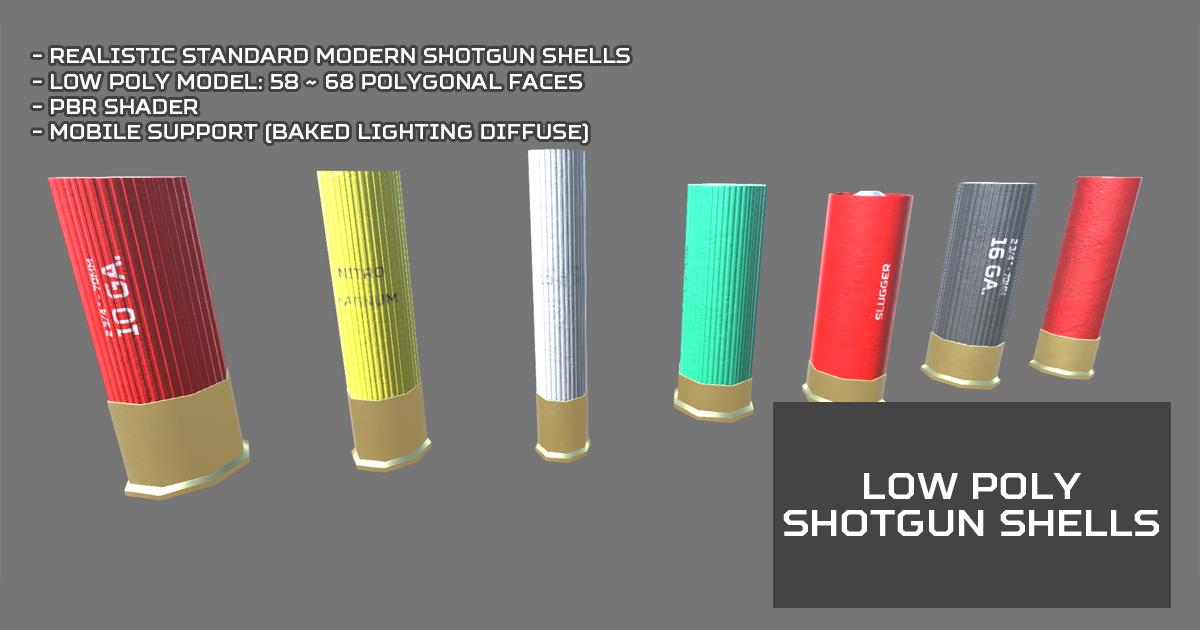 Low Poly Shotgun Shells