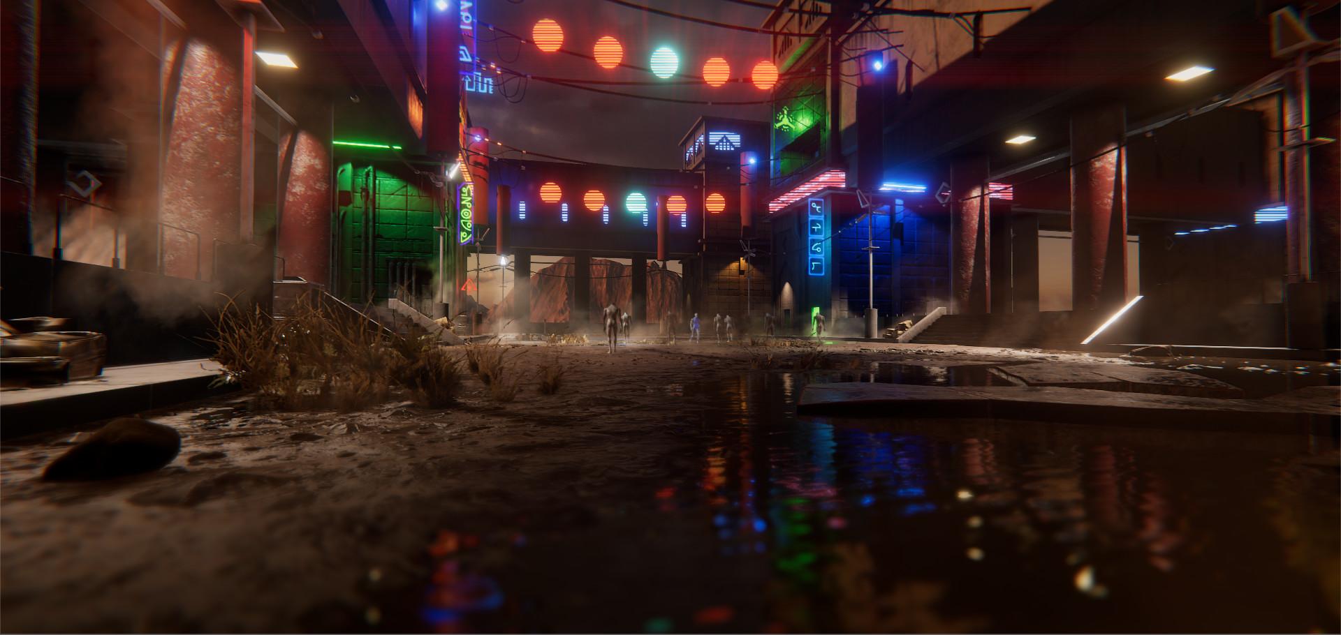 Unity Neon Challenge 2017 - The Oasis