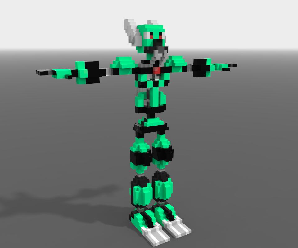 Hermes Voxel Robots