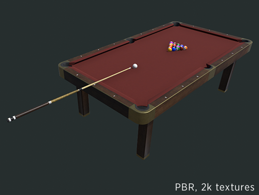 Pool billiard table