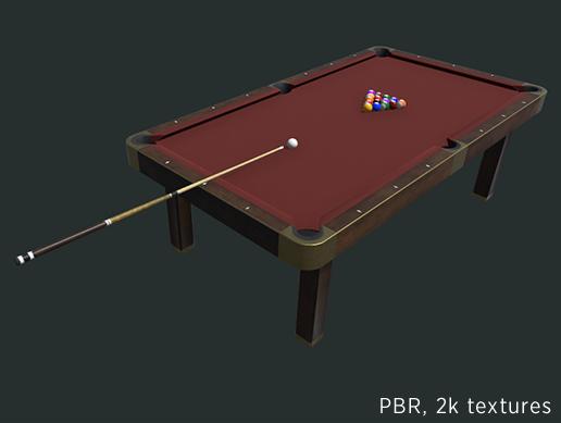 Pool billiard table