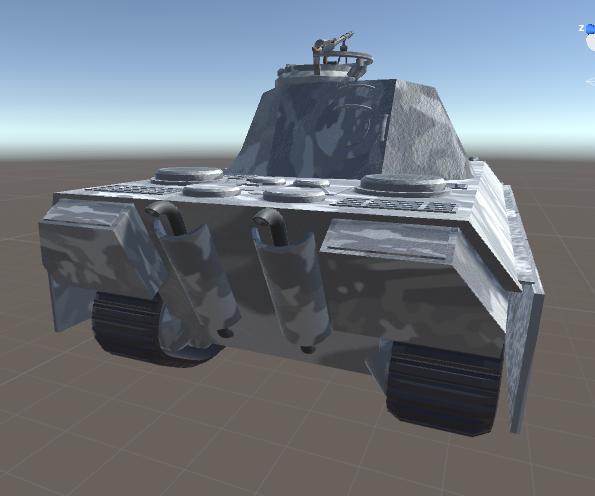 WW2 Panther Tank (Arctic Camo)