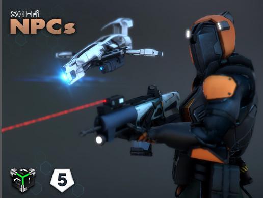 AAA Sci-fi NPC