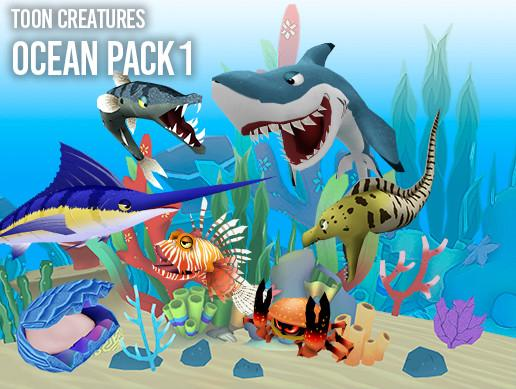 Toon Creatures -Ocean Pack 1