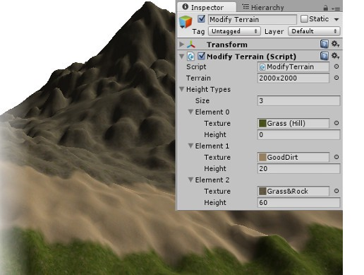 Terrain Texture by Height Tool