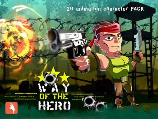 2D Run & Gun Anim Character Pack