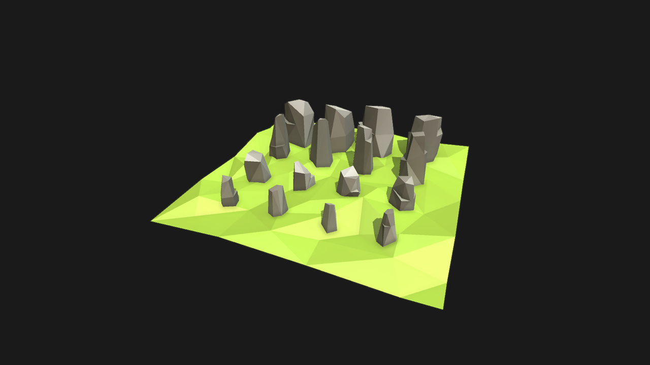 Low poly styled rocks
