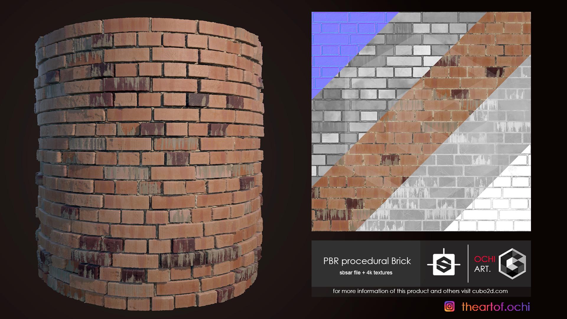 5 Materials Briks 4k PBR Substances