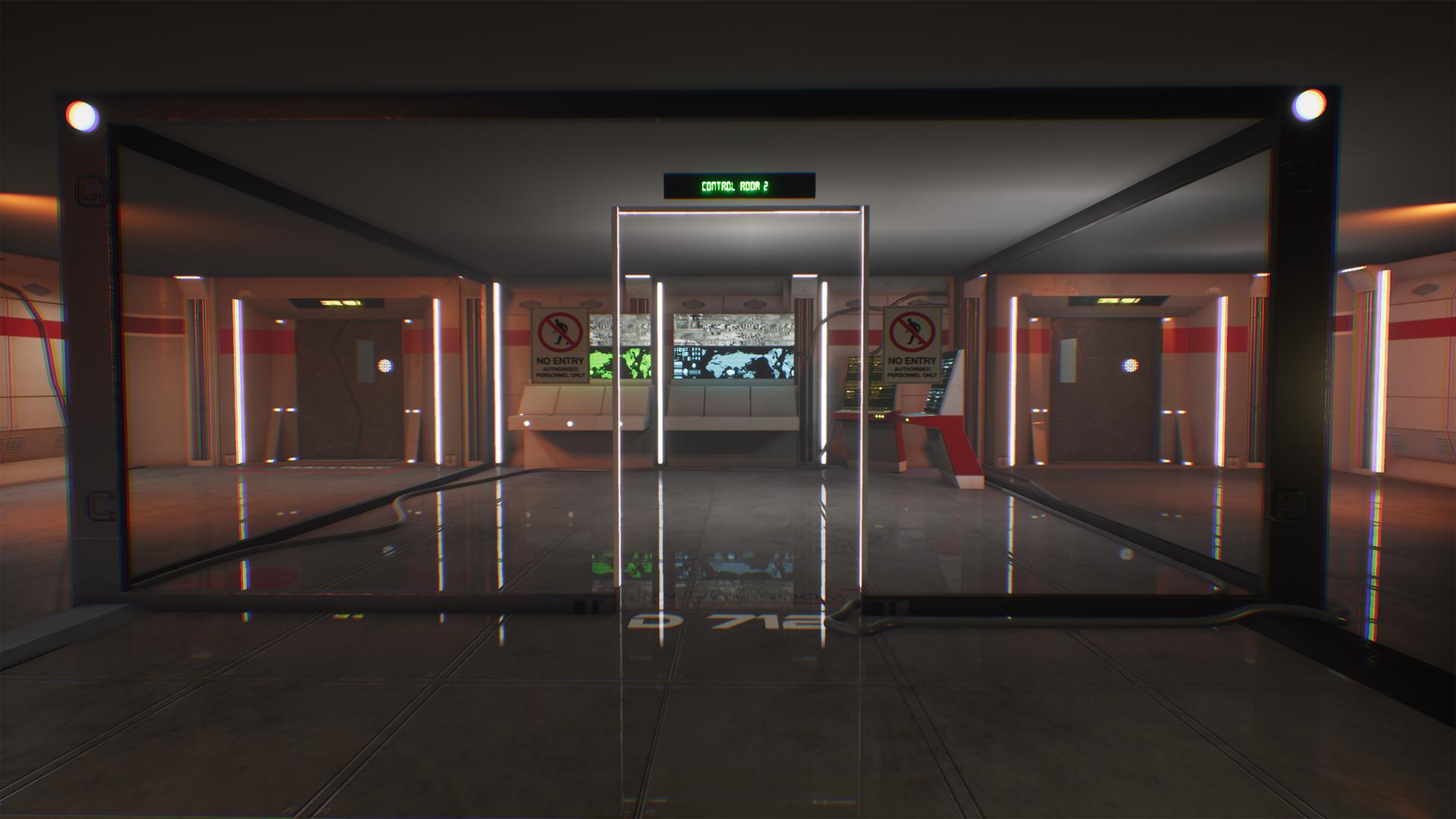 Sci-fi Control Room