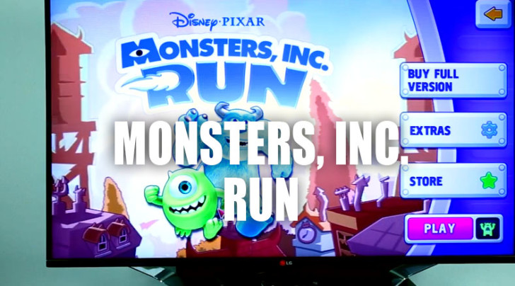 Monster's Run LG TV