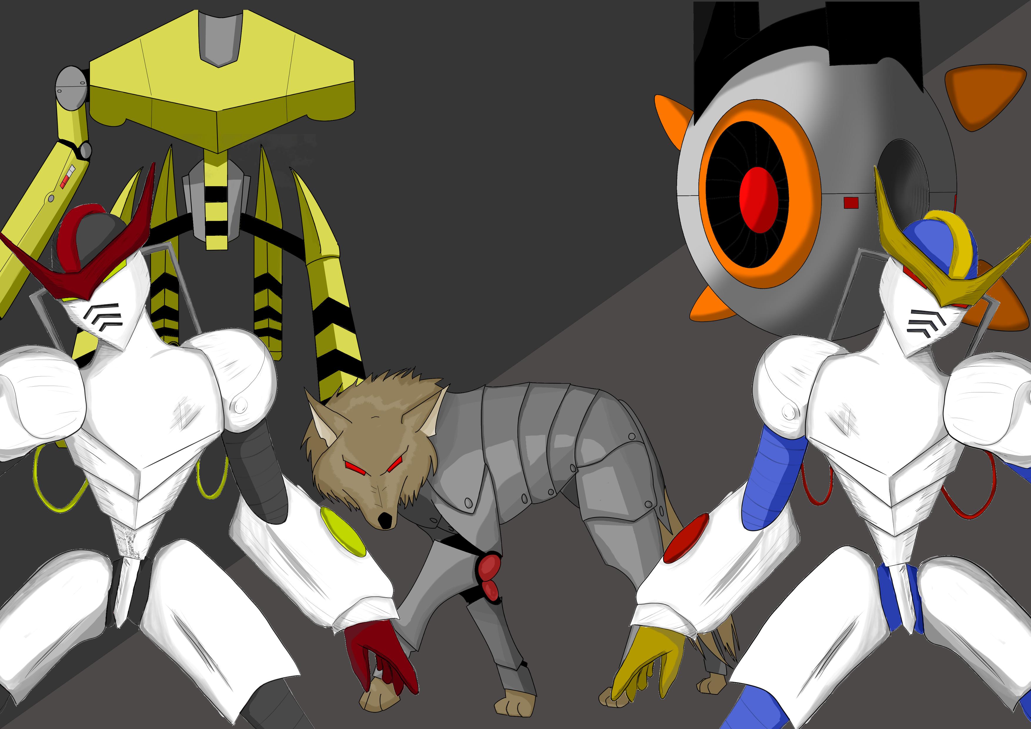 Robot Enemies Ilustrations