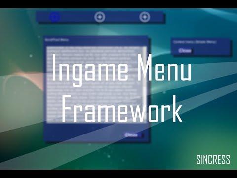 Ingame Menu Framework